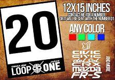 Honda Racing Door Sticker Decal EK EG EF CRX  KANJO OSAKA LOOP ONE VINYL JDM