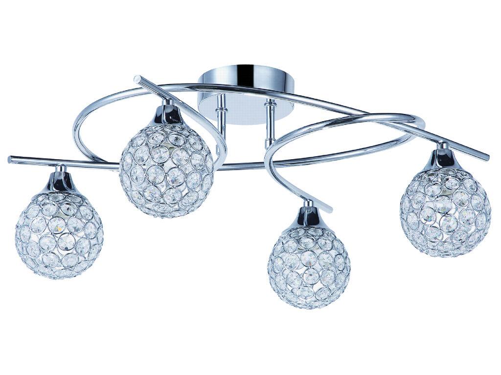 Nouveau LED//halogène plafonniers lampes de plafond 4 brûleurs lampe nickel bleu EGLO