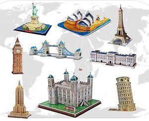 3d famous buildings landmarks architecture replicas models jigsaw puzzles sets ebay. Black Bedroom Furniture Sets. Home Design Ideas