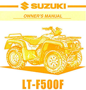 1999 suzuki lt f500f quadrunner 500 atv owners manual ltf500 f rh ebay com Suzuki LT F500F Parts 2001 Suzuki Quadrunner 500 Parts