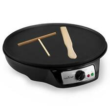 NutriChef PCRM12 Electric Crepe Maker / Griddle Hot Plate Cooktop Round 12''