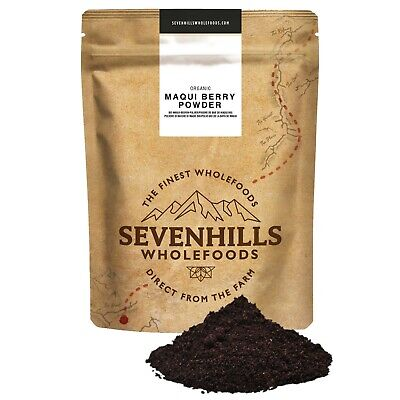 Sevenhills Wholefoods Organic Raw Maqui Berry Powder Detox Diet