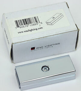 Wac Lighting Duo Rail Straight Line Dead End Connector Lm2 Idec Ch Chrome Ebay