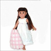 CRAFT Springfield Collection Nightie Outfit White Nightie with Pink and White Blanket - 5426F Toys