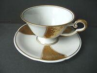 Kaffeetasse Teetasse Sammeltasse weiß-gold / Schierholz Porzellan