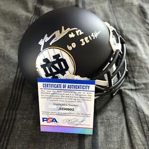 Tyler Buchner Signed Notre Dame Irish Mini Helmet Autographed Auto PSA DNA COA 2