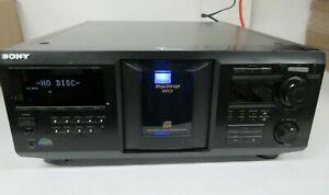 Sony-CDP-CX455-Mega-almacenamiento-400-disco-CD-Player-Carrusel-Para-Repuestos-No-Funciona