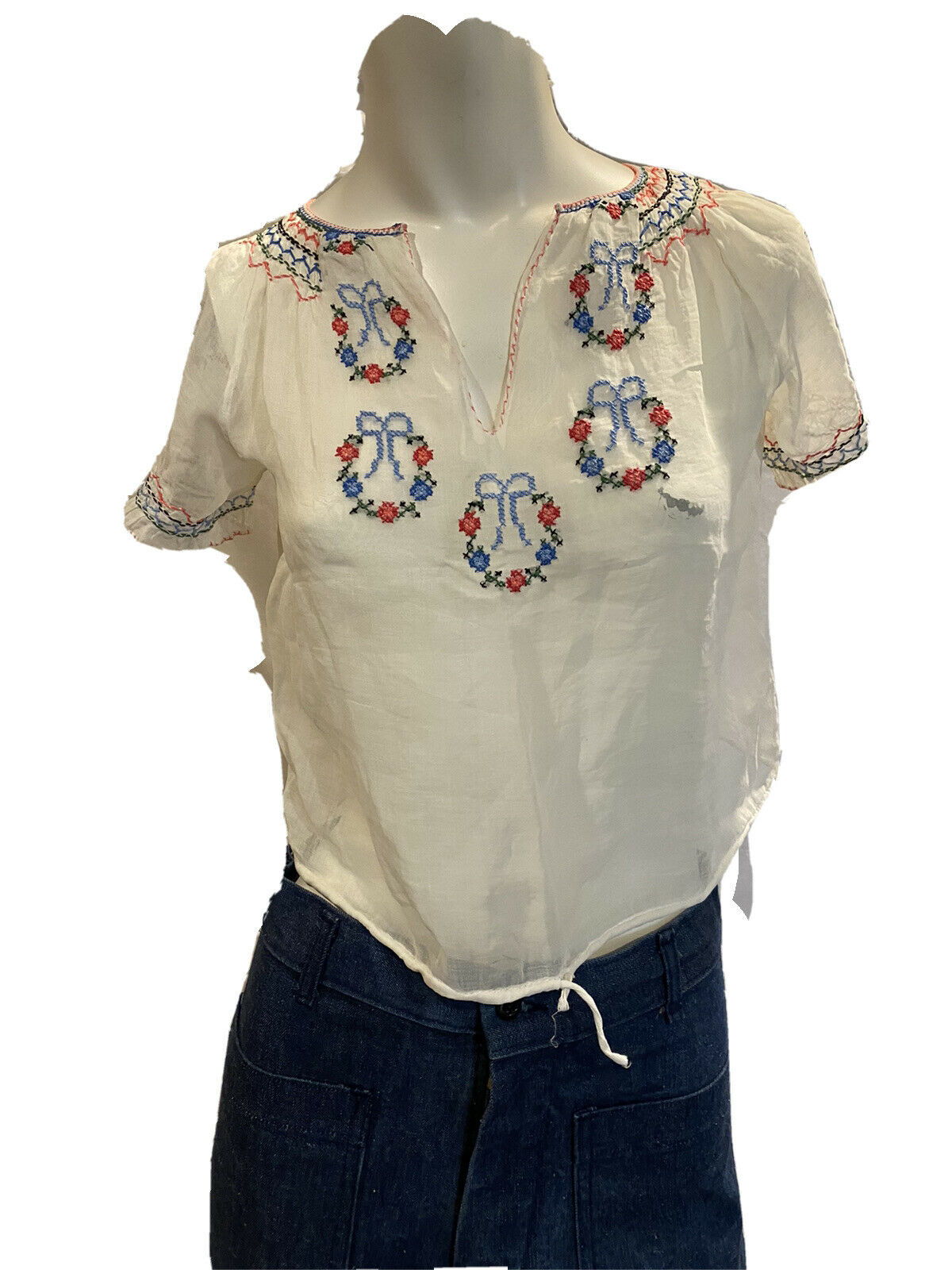 Vintage Antique 1920s Embroidered Hungarian Peasa… - image 2