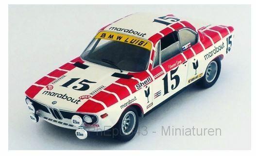 BMW 2800 CS - Marabout - V.  Gaye Willy Braillard - 24h Spa 1972  15 - Troféu  100% neuf avec qualité d'origine