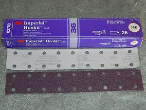 3M 02700 Hookit 740I 2-3//4 x 16 36E Grit Dust-Free Sheet