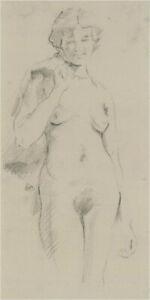 Franco Matania (1922-2006) - 20th Century Graphite Drawing, Female Nude