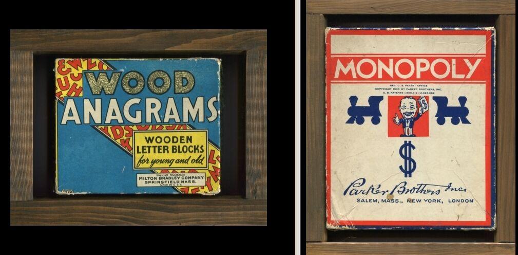Offriamo vari marchi famosi Vintage MONOPOLY & & & WOOD ANAGRAMS-Pre 1940's  edizione limitata a caldo