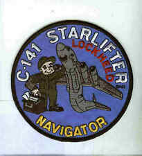 LOCKHEED C-141 STARLIFTER NAVIGATOR USAF AS Transport Squadron Crew Jacket Patch
