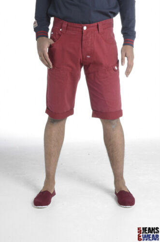 White//Tobacco//Eclipse//Claret//Blue Crosshatch Mens Branded Summer Chino Shorts