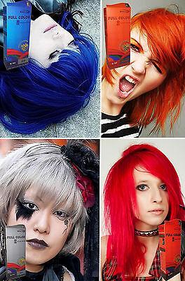 Premium Permanent Hair Color Cream Dye Punk Rock Red Blue Orange Grey Violet Ebay