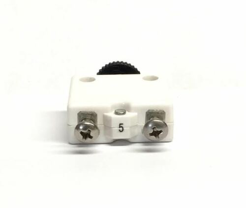 ign... Mechanical Product 5 AMP pushbutton circuit breaker with screw terminals
