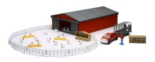 New-Ray NEW04143B Country Life Chicken Farming Play Set 10 Years Above