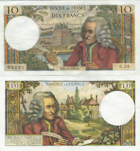10 Francs Voltaire 10 - 10 - 1963 , Billet De QualitÉ 8v9jaduz-08011827-194346336