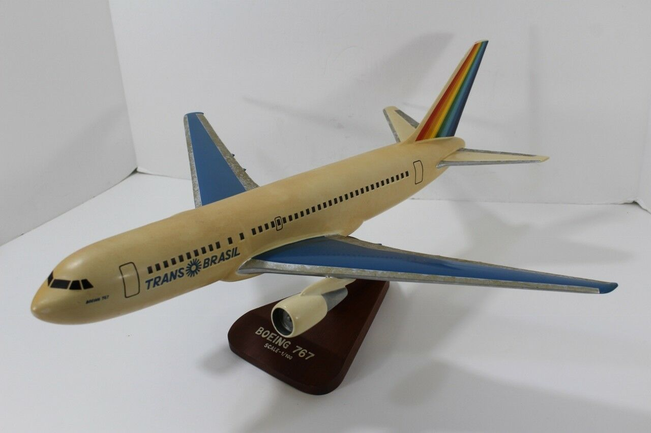 Trans Brasil Airlines Boeing 767 Aviation Executive Desk Top Airplane Model