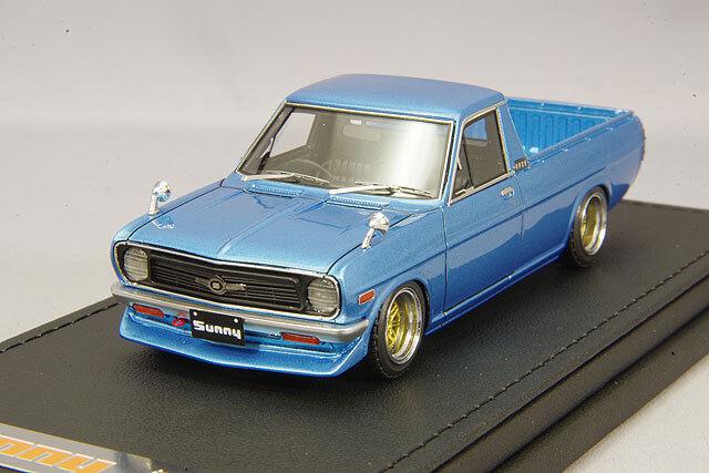 1 43 Hpi IG Encendido Nissan Sunny Truck largo (B121) IG1121 blu Metálico
