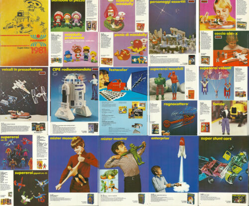 1981 HARBERT ITALY TOY CATALOG ON CD-ROM MEGO WGSH STAR WARS ACTION FIGURES ++