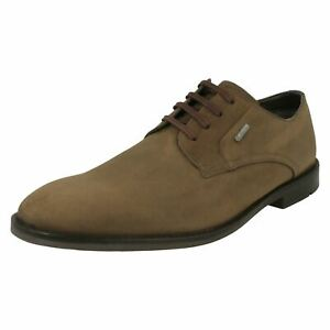 mens clarks goretex smart/casual heeled lace up leather