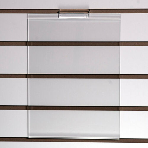 """Count of 2 New Retails Acrylic slatwall sign holder 8-1//2/""""w x 11/""""h x 1//8/""""thick"""