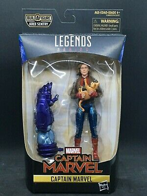 Marvel Legends Captain Marvel from Kree Sentry Build A Figure Wave With Jacket