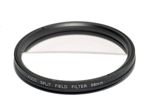 2 Diopter 58mm in Slim Rotating Ring Split-Field 58mm Filter Split Field Filter