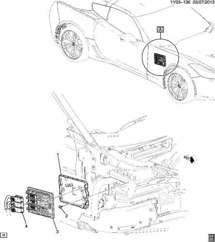 2015 Chevrolet Corvette C7 Emission Control ECU Mount Bracket New 23130710 22739