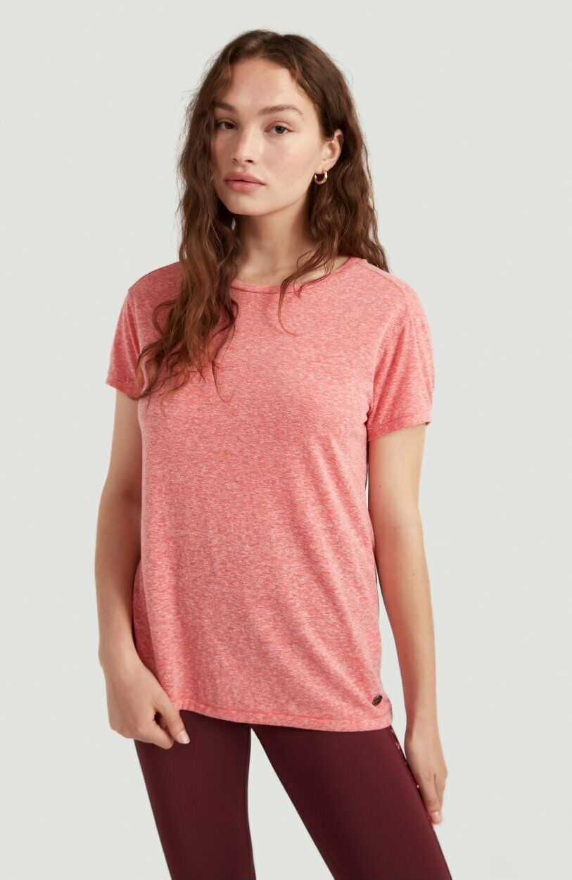 O'Neil Womens Active Essential T-shirt - Fiery Red - Size UK 12 - New With Tags