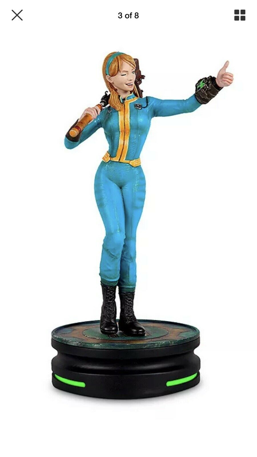 Moderne Icons  8 Fallout Vault Girl Statue 9  Tec figurine base New 2019 in (environ 5128.26 cm) main