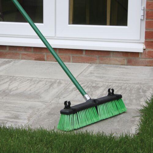 JVL Heavy Duty VERDE OUTDOOR Yard sweep Spazzola della Scopa con setole dure