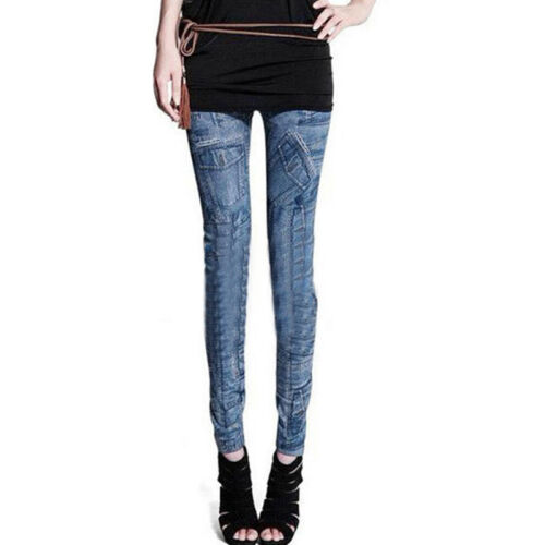 New Womens Ladies Celeb Stretch Ripped Skinny High Waist Denim Pants Jeans 2-18