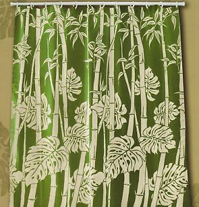 Image Is Loading Tropical Floral Fabric Shower Curtain Colorful Flora Monstera