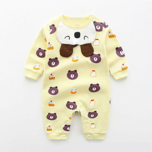 Baby Kids Boy Girl Cotton Jumpsuit Infant Romper Bodysuit Clothes Outfits Set