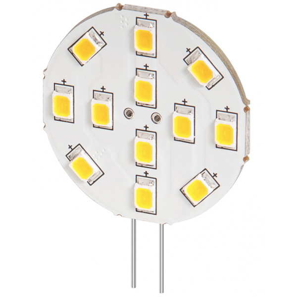 Lampe LED G4 12V 2W blanc chaud diamètre 30 mm