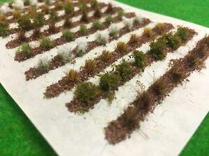 Farm-Crops-x10-Set-04-Model-Railway-Static-Grass-Tufts-Garden-Allotment-Field