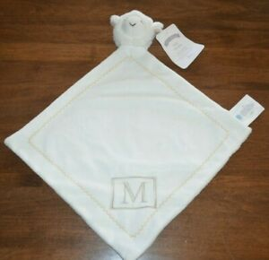 "Pottery Barn Kids Baby Plush Lamb Thumbie Monogram ""M ..."