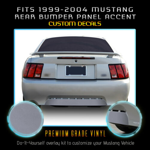 Flat Matte For 1999-2004 Ford Mustang Rear Bumper Panel Accent Precut Decal