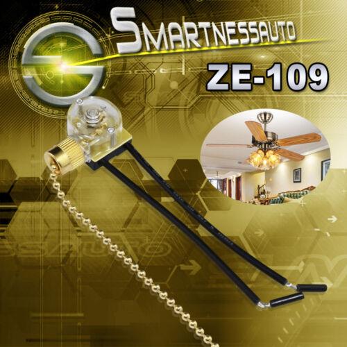 Zing Ear ZE-109 250VAC Pull Chaîne Interrupteur de lumière de métal ventilateur de plafond Contrôle