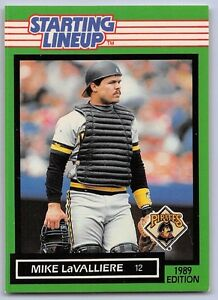 1989  MIKE LaVALLIERE - Kenner Starting Lineup Card - SLU - PITTSBURGH PIRATES
