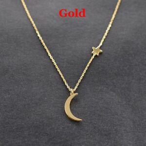Halskette Modeschmuck Anhänger Doppel Kette Herz Sterne Mond Rose Versilbert NEU