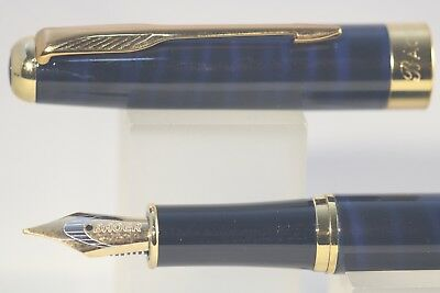 388 Green /& Black Marble Medium Fountain Pen with Gold Plated Trim Baoer No
