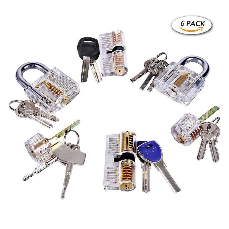 1x Haoshi 6-in-1 Foldable Door Lock Opener Set Unlocking Tool L Tension Wrench