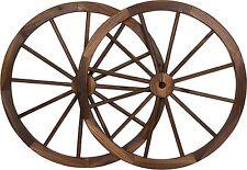 30 in Steel-rimmed Wooden Wagon Wheels - Decorative Wall Decor, Set Two Trellis