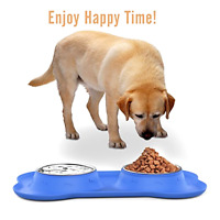Large Pet Dog Cat Bowls, Stainless Steel Pet Feeder Pet Dog Bowls Set Of 2