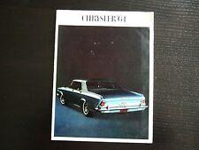 Prospekt Chrysler Gesamtprogramm 1964