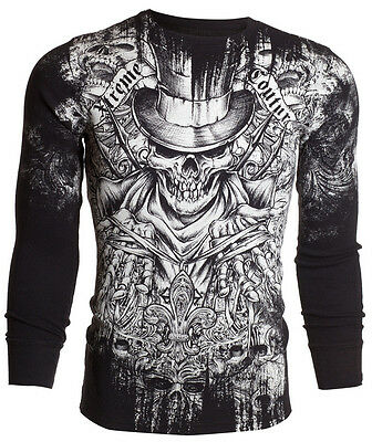 Xtreme Couture AFFLICTION Mens THERMAL T-Shirt OFFERING Tattoo Biker S-3XL $58 a