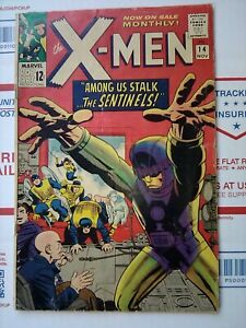 X-men-1965-14-FIRST-SENTINELS-NICE-Marvel-Comic-xmen-x-men-14-NOV-1963